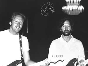 Andy Seghers and Eric Clapton